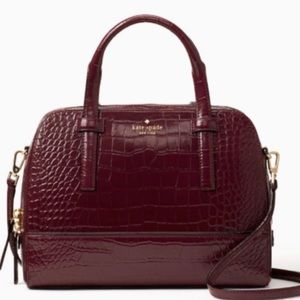 Authentic Kate Spade Croc Leather Satchel/Crosby❤️